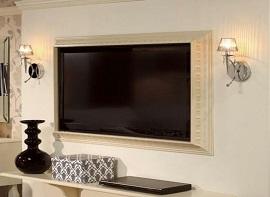 Оформление телевизора багетом